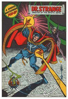 Dr Strange Marvel Masterworks Pin Up Poster Vintage Art Marvel UK British | eBay