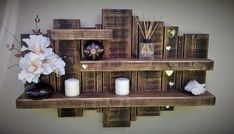 Floating Pallet Shelf.  #pallets  #shelf  #palletproject
