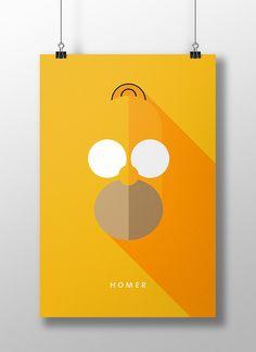 Flat Design e personagens da cultura pop nos pôsteres de Moritz Adam Schmitt - Que tal misturar personagens da cultura pop com Flat Design em pôsteres? É essa a proposta do estudante de design Moritz Adam Schmitt. Confira!