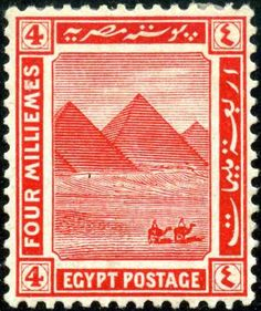 Giza Pyramids, Egypt, 1914.