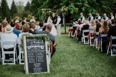wedding decorations - wedding ceremony decorations - wedding arch  - wedding sign #rusticweddinginspiration