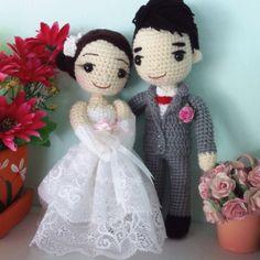 Crochetdolls Tunisian Crochet, Diy Crochet, Crochet Dolls, Wedding Doll, Crochet Wedding, Wedding Crafts, Amigurumi Doll, Beautiful Crochet, Betty Boop