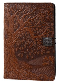 Leather Kindle Covers and Cases | Tree of Life in Saddle