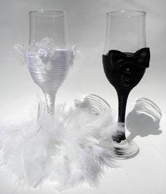 Hand Decorated Champagne Glasses  Handmade by HANDMADEONLYFORYOU, €29.50