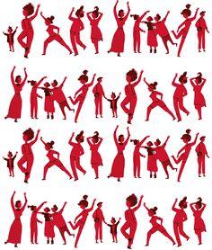 'Happy people!' pattern by paulapé