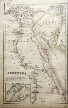 1880 Antique Print Map of Egypt - Atlas Antiquus World Atlas via Grandpa's Market. Click on the image to see more!