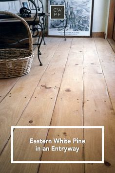 Thats how wed describe the hand-scrapped look of this White Pine floor. The entryway is your houses first impression, make sure it makes an impact with wide plank wood flooring. Pine Wood Flooring, Rustic Wood Floors, Real Wood Floors, Farmhouse Flooring, Pine Floors, Kitchen Flooring, White Wood Floors, Maple Flooring, Hardwood Floors