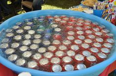 So cute....put drinks n pool fill with ice cold water for fish theme party