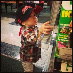 My Little Golfer #woods #titelist  #baby #boy #fashion #kids #carterrunway #plaid #golf #hat #scarf #winter #outfit #swag #gap #zarababy