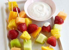 Make fruit more fun! Fruit Kabobs with Yogurt Dipping Sauce  #greatforyou #healthy #recipes