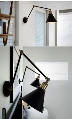 Hot Sell! CY Wall lamps of RH  Vintage Retro Jointed Holder Simple Adjustable Wall Lamp Sconce Industrial Aged Steel  -in Wall Lamps from Lights & Lighting on Aliexpress.com | Alibaba Group