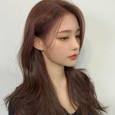 Korean Long Hair, Korean Hair Color, Korean Haircut Long, Ulzzang Hair, Ulzzang Korean Girl, Girl Haircuts, Girl Hairstyles, Job Interview Makeup, Makeup Korean Style