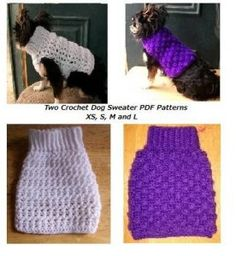 2 Crochet Dog Sweater Patterns Pdf Patterns   | Copperllamastudio – Patterns On Artfire