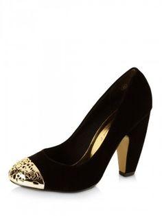 DOLCIS Filigree Toe Cap Heels from koovs.com