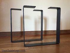 Metal Coffee Table Legs - w/CLEARCOAT - Steel FlatBar-Modern/Industrial/Square