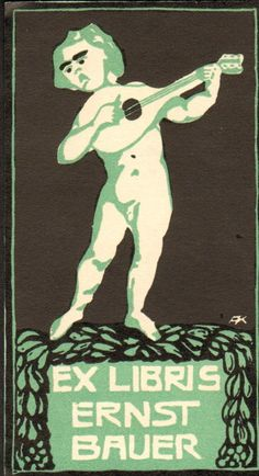 Art Nouveau Bookplate Exlibris 1910s Germany 11x6cm Bo 193   eBay