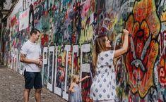 John Lennon Wall - History & Location in Prague Beatles Lyrics, The Beatles, John Lennon Wall Prague, Family Drawing, Charles Bridge, Graffiti Wall, Old Town, Photo Sessions, Engagement Photos