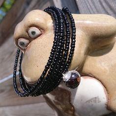 Mariage / cadeau original bracelet manchette charbon