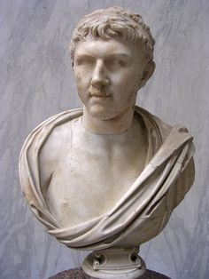 Ptolemy of Mauretania, grandson of Cleopatra VII Philopator and Marc Anthony, later last Roman client king of Mauretania, Roman bust (marble), 1st century AD, (Musei Vaticani, Vatican City).