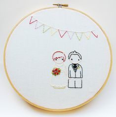 With weddings it seems like its the little personal touches that can make a big impact on the ceremony... and on your wallet. Thats why I created The Peg Doll Wedding embroidery pattern. You can have a personal touch with your own custom wedding embroidery for a rockin price. Time to call in a favor from your crafty friend!   When you purchase this pattern, you get The Peg Doll Starter pattern, The Peg Doll Wedding pattern, a transfer guide and a stitch guide. I've put this pattern together…