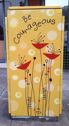 Greeting Card Designer: My Street Art on a Berkeley Utility Box – streetart Murals Street Art, Mural Art, Street Art Graffiti, Electric Box, Painted Boxes, Street Artists, Public Art, Box Art, Art Forms