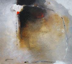 Franck DUMINIL Déplacements inscrits XIV Huile sur toile 40 x 40 cm.