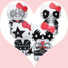 Kiss Collectors Memorabilia Hello Kitty Figures Set - Perfect for Valentines Day!   eBay