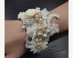 SALE Bridal Wrist Corsage Wedding wrist corsage by SweetieWorkshop