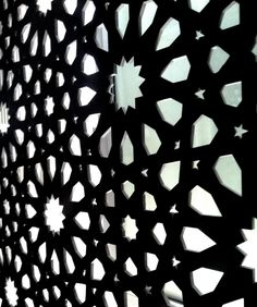 ¨Visions of the Alhambra¨ by Alvaro Siza. Intricate facade panel perforations. Waterjet cut out of 1 through coloured EQUITONE facade panel. #art #material www.equitone.com