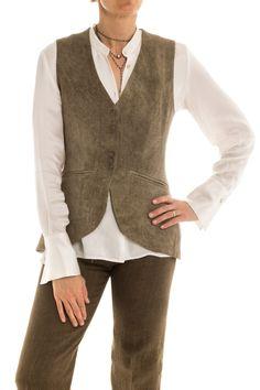 ba Antonia Long Vest in Hunter Green Long Vests, Tailored Jacket, Hunter Green, Linen Fabric, Luxury Branding, Elegant, Lady, Jackets, Collection