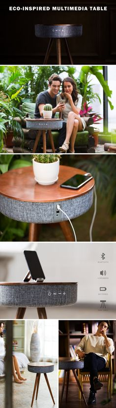 The Mellow table is what you get when Salone Del Mobile meets the Consumer Electronics Show. It presents a new age for decor that becomes multi-purpose by integrating themselves with technology. The Mellow is a side-table that also happens to be a hi-def 360° bluetooth speaker and a powerbank.