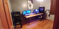 Office with a Server/rack and Phanteks Enthoo Elite build