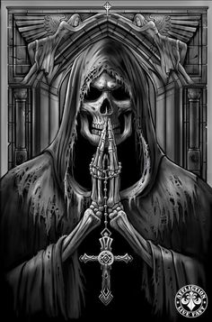 make this like Jesus Grim Reaper Art, Grim Reaper Tattoo, Ghost Rider Wallpaper, Skull Wallpaper, Skull Girl Tattoo, Skull Tattoo Design, Angel Of Death Tattoo, Iron Maiden Posters, Dark Art Tattoo