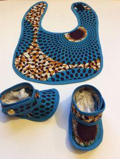 Ankara baby bib set Baby shower gift African Baby by SaloneStarr ~African fashion, Ankara, kitenge, African women dresses, African prints, African men's fashion, Nigerian style, Ghanaian fashion ~DKK