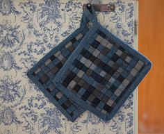 Potholders from old jeans