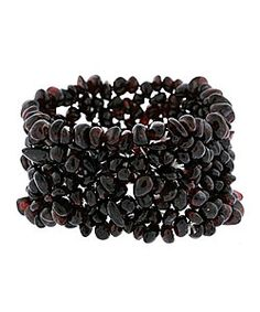 @Overstock - Trendy bracelet consists entirely of garnet chips strung onto nylon strands  Bracelet stretches for a snug fit and for easy removal  Garnet jewelry can be dressed up or down for any occasionhttp://www.overstock.com/Jewelry-Watches/Stonique-Creations-Multi-row-Garnet-Chip-Stretch-Bracelet/2999505/product.html?CID=214117 $15.99