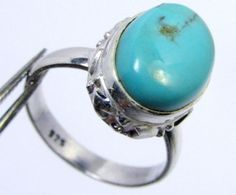 TURQUOISE SILVER RING SIZE 10    GG 1005  turquoise gemstone rings, multi fire gemstone rings,