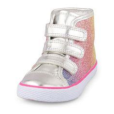 Toddler Girls Multicolor Glitter Strap Rockstar Sneaker
