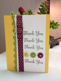 Razzleberry Thank You by Janeyrocket - Cards and Paper Crafts at Splitcoaststampers
