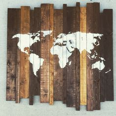 World map by THEURBANUPCYCLETN on Etsy