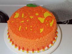 Trick or treat halloween cake idea