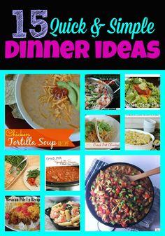 quick simple dinners, dinner ideas, simpl dinner, meal