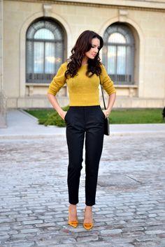Golden sweater for morning