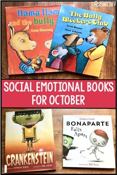 Use these picture books in your school counseling lessons this October. These 10 books are the perfect way to celebrate the fall season while teaching about important social emotional topics, as well as celebrating Bullying Prevention Month. Emotional Books, Social Emotional Activities, Will Terry, School Social Work, School School, Bullying Prevention, Character Education, Teaching Character, Physical Education
