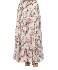 Look what I found on #zulily! Gray & White Butterfly Maxi Skirt #zulilyfinds $27