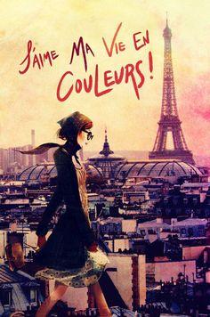 Parisian Walk Canvas Giclee Print