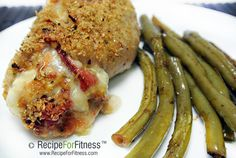 Roasted Red Pepper Stuffed Chicken Breasts - clean and healthy recipe