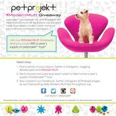 WIN a year's supply of @petprojekt dog toys! #ModernMutt