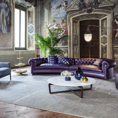 An eclectic living room of luxuriant hues and bold designs. Discover the new Chester Line sofa and Times Lounge armchair by Poltrona Frau.  Experience the complete collection of #PoltronaFrau Furniture at #ETRELUXE studio.  #sofa #Modernlivingroom #Exclusivesofaseating #Contemporarysofa #Designersofas #Modernsofas #Luxurysofa #Designerfurniture #Italianfurniture #Interiordesigning #TurnkeyInterior #Moderndesign #furniture #Contemporarydesign #Premiumsofaseatings #Hiendfurniture… Trendy Furniture, Luxury Furniture, Furniture Design, Eclectic Living Room, Luxury Sofa, Contemporary Sofa, Italian Furniture, Modern Design, Lounge