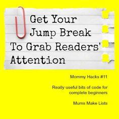 Edit Jump Breaks in Blogger